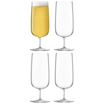 Borough Pilsner Glass, Set of 4, 440ml