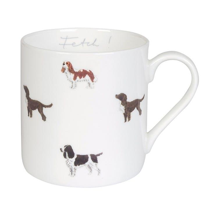 'Spaniels' Fetch! Mug, Large