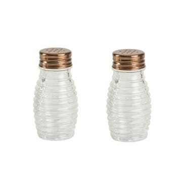 Beehive Glass Salt & Pepper Shaker Set