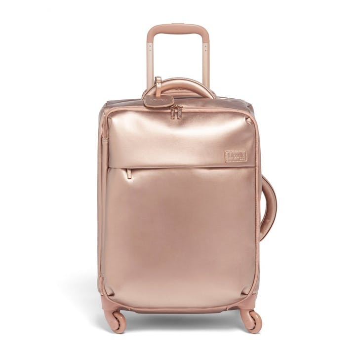 Miss Plume Spinner Suitcase, 55cm, Pink Gold
