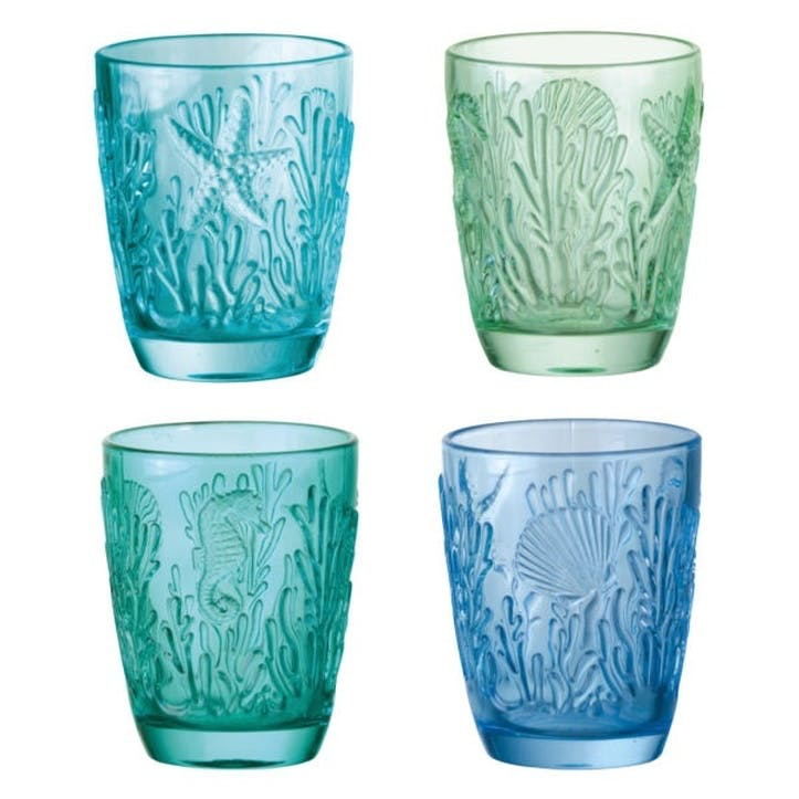 Marine Tumblers, Set of 4, Multi