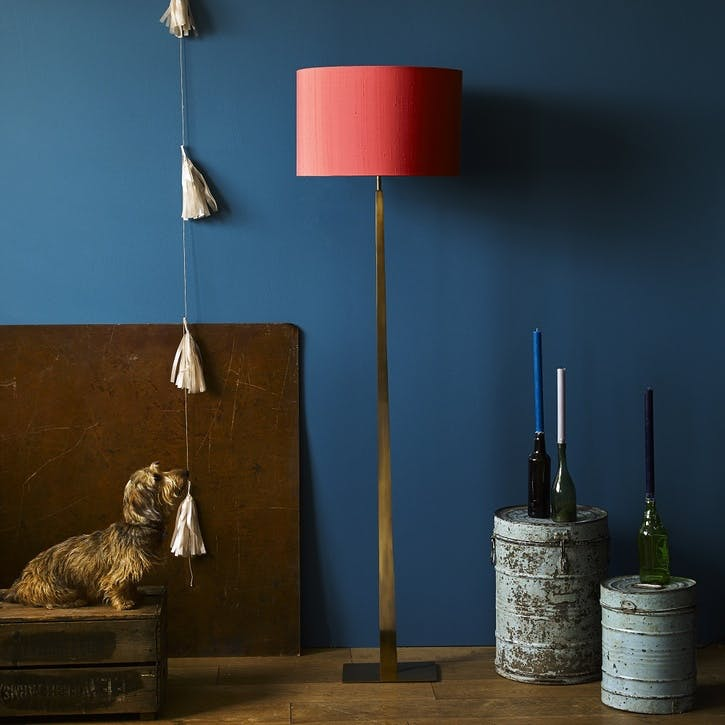 Trafalgar Floor Lamp in Antique Brass, 144cm