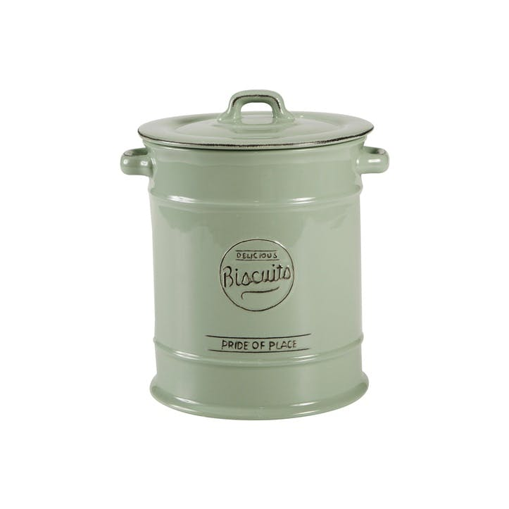 Pride of Place Biscuit Jar, Old Green