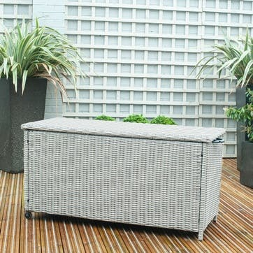 Barbados Cushion Box, Small, Stone Grey