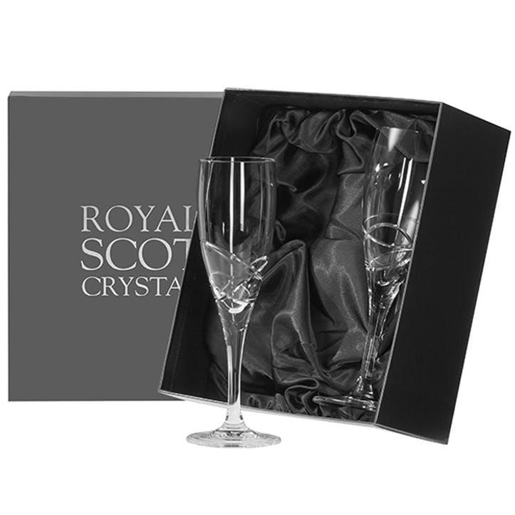 Skye Crystal Champagne Flutes, Set of 2