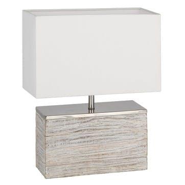 Haley Grey Wash Wood Rectangular Lamp