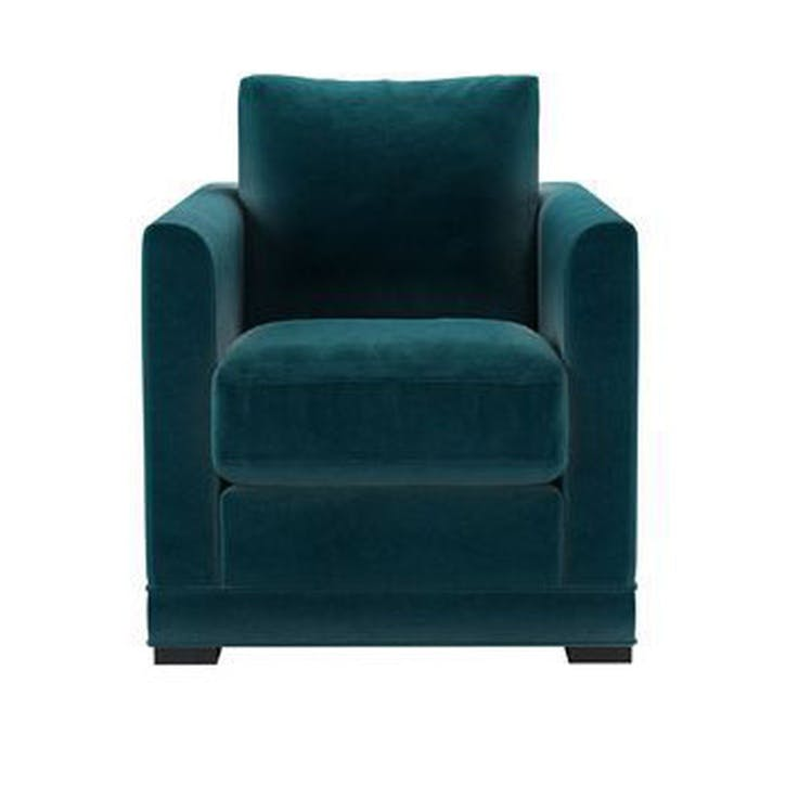Aissa Armchair, Turquoise Velvet