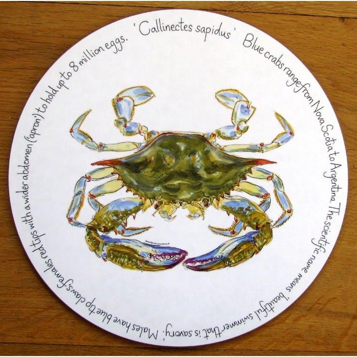 Blue Crab Tablemat - 28cm