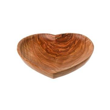 Heart Shaped Olive Wood Bowl