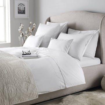 Avignon Housewife Pillowcase, Standard, White
