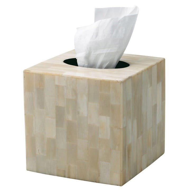 Bone Inlay Square Tissue Box Cover