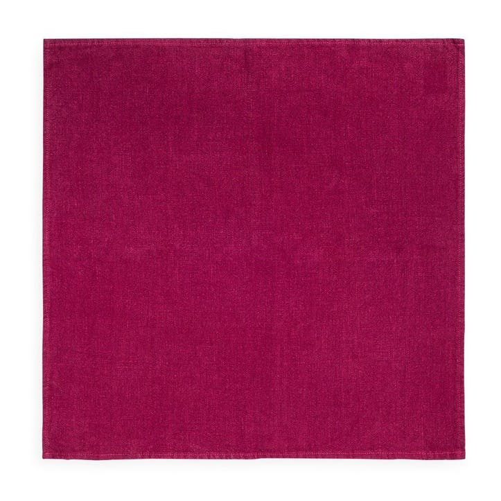 Linen Napkin; Wine Red