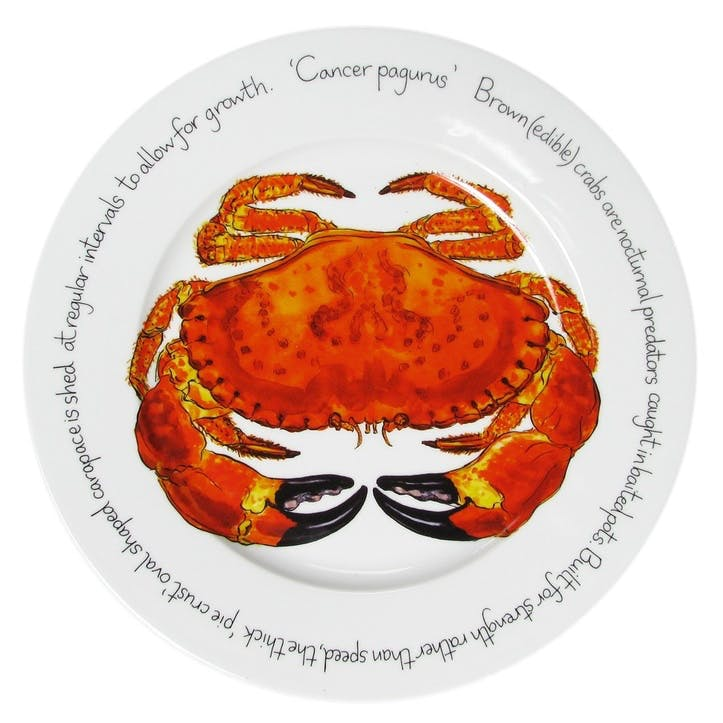 Crab Flat Rimmed Plate - 30cm