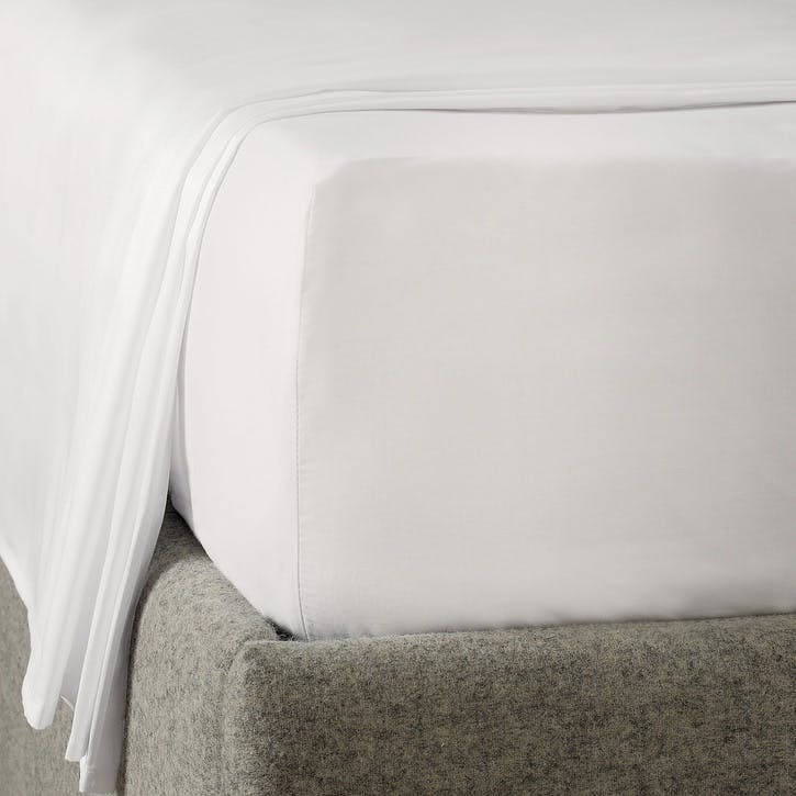 Savoy Deep Fitted Sheet, Super King, White