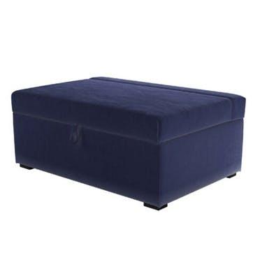 Henry, Bed in a Box, Prussian Blue Cotton Matt Velvet