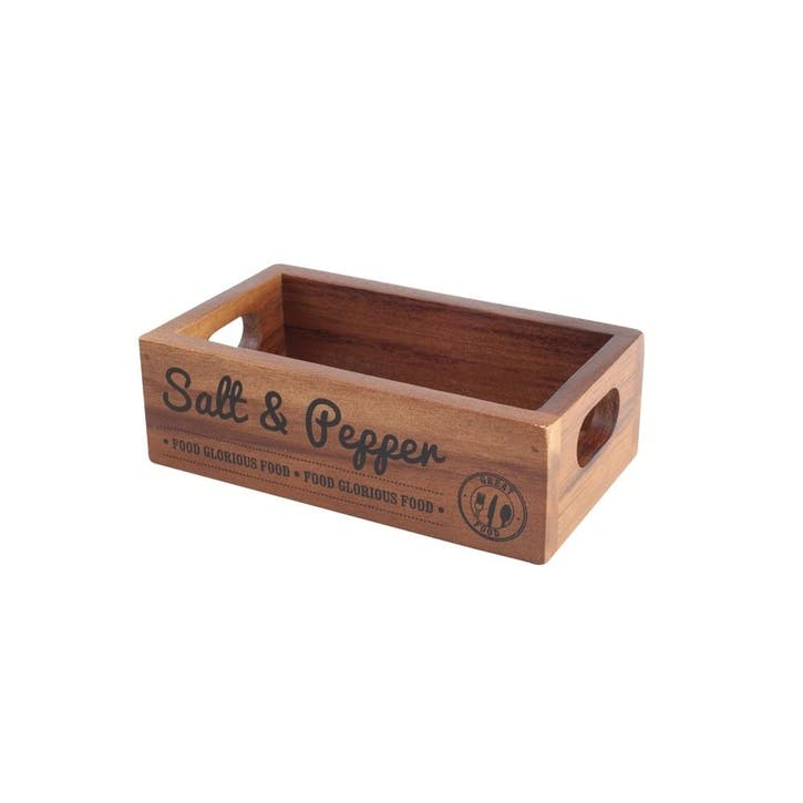'Food Glorious Food' Salt & Pepper Crate