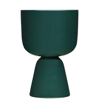 Nappula Plant Pot, Dark Green, Small