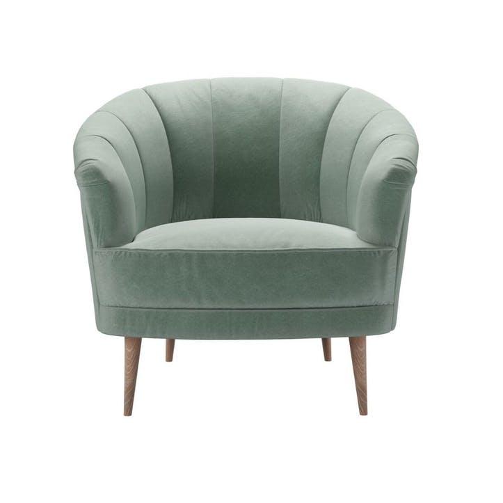 Harper, Armchair, Sage Smart Velvet