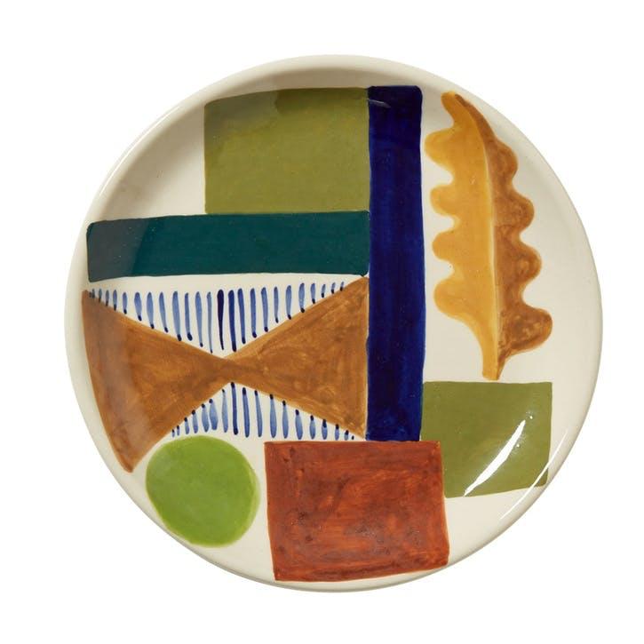 Spring Oak Side Plate, 19cm, Multi