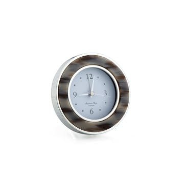 Alarm Clock; Grey Horn & Silver