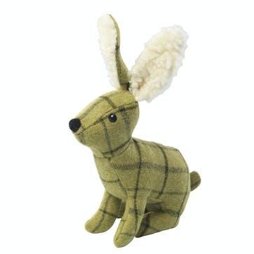 Tweed Plush Hare Dog Toy