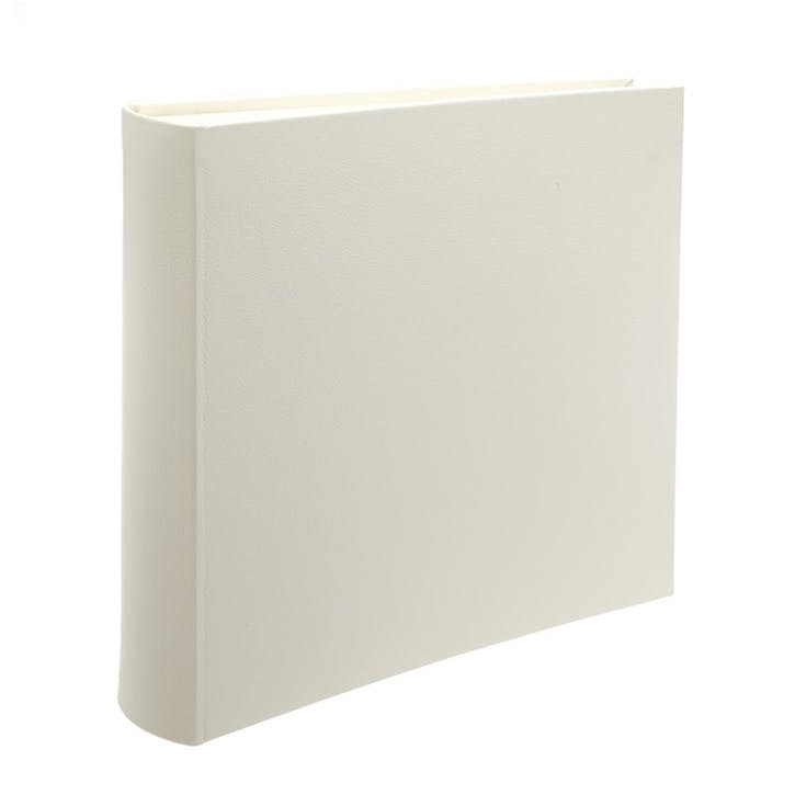 Leather Square Photo Album, Ivory