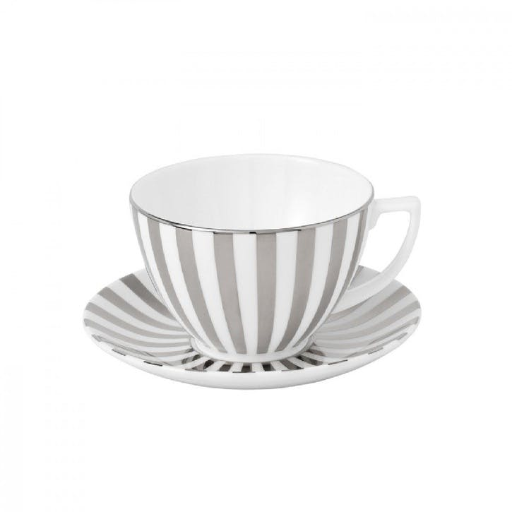 Jasper Conran at Wedgwood Platinum Tea Cup Striped