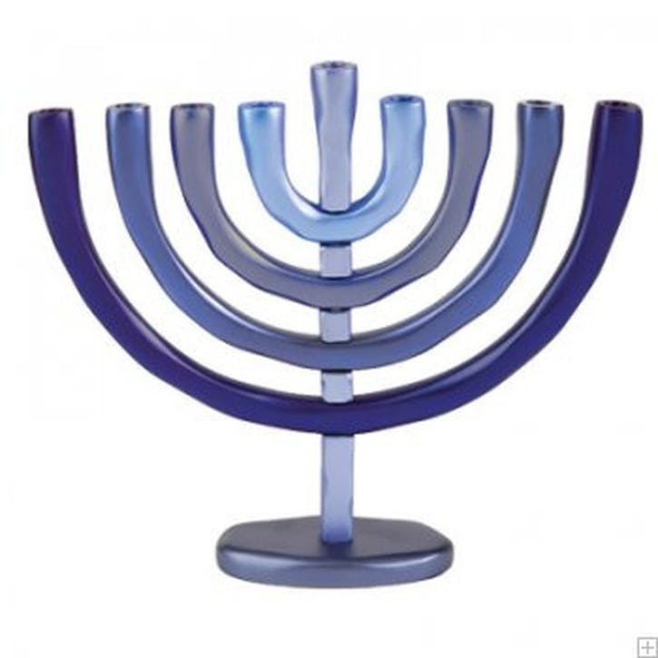 Shades of Blue Menorah