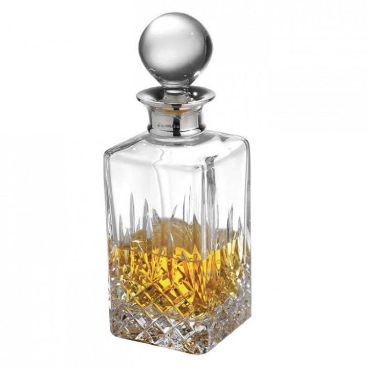 Henley Cut Crystal and Sterling Silver Decanter, 650ml