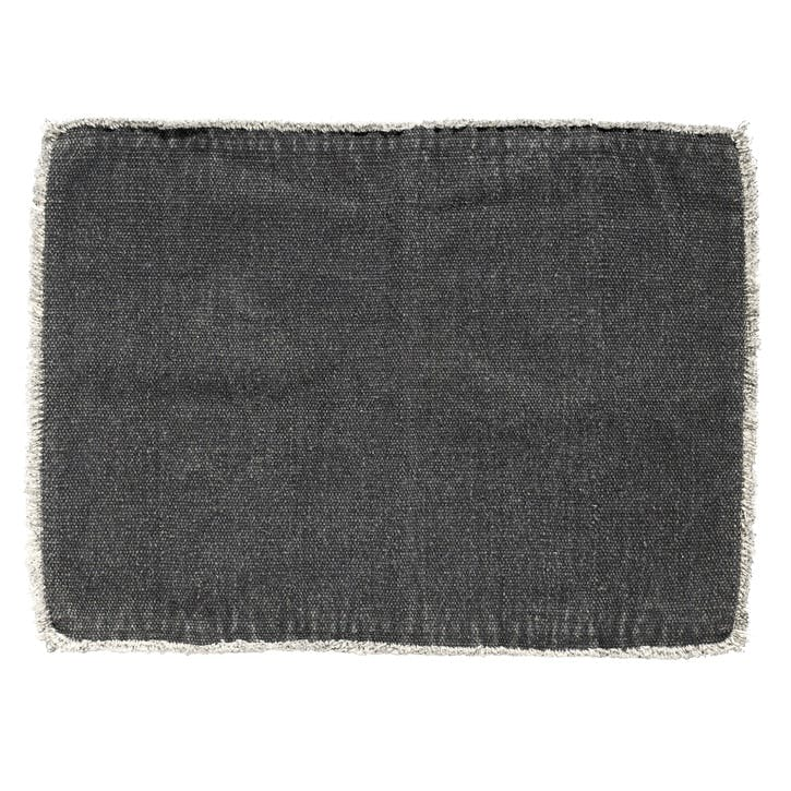 Raw Edge Fabric Placemat, Dark Grey