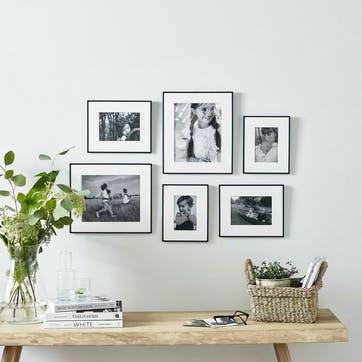 Fine Black Gallery Wall, 6 Frames