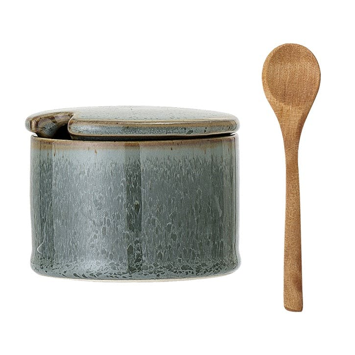 Pixie Stoneware Jar & Spoon