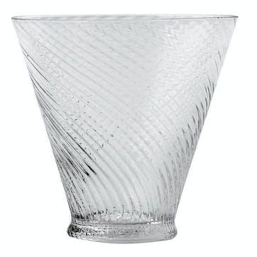 Short Twisted Glass Tumblers, Set of 4