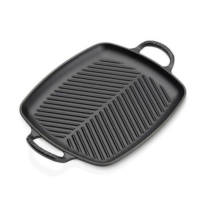 Cast Iron Rectangular Grill - 30cm; Satin Black