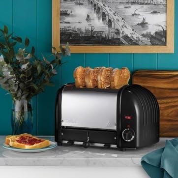 Classic Toaster, 4 Slot; Black
