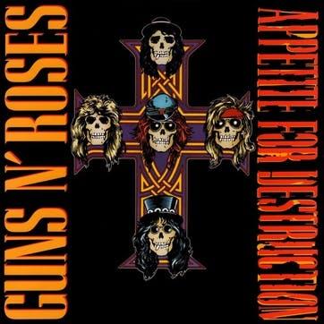 """Guns N' Roses, Appetite For Destruction 12"""" Vinyl"""
