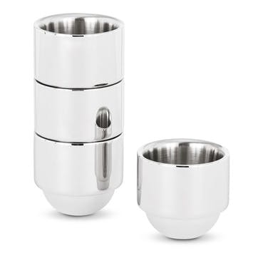 Brew Stainless Steel Espresso Cups, Set Of 4