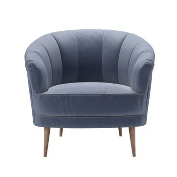 Harper, Armchair, Sapphire