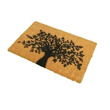 Tree of Life Doormat, Black