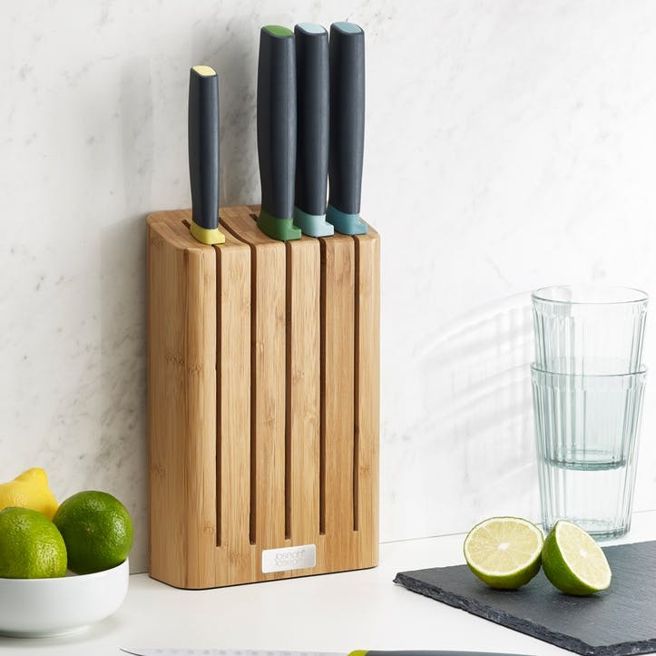 Elevate 5-Piece Bamboo Knife Block