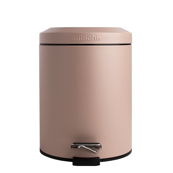 3ltr Soft Close Bathroom Pedal Bin, Matt Blush