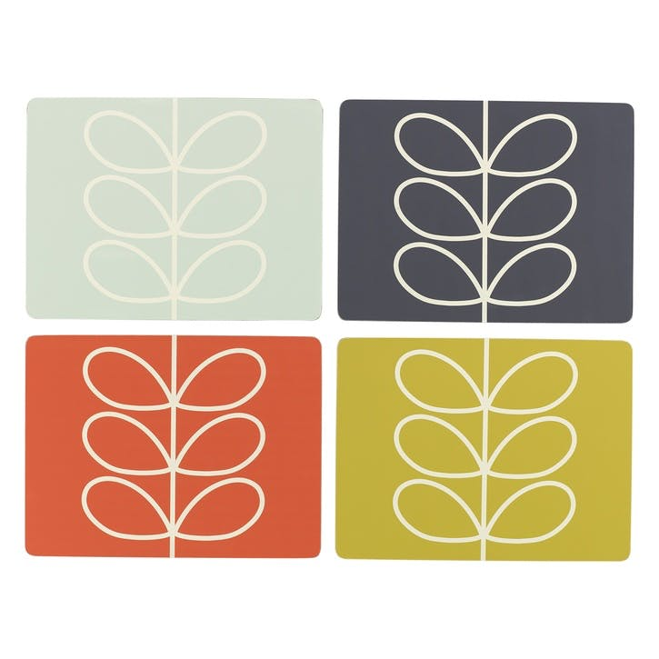 Linear Stem Set of 4 Placemats, Multi