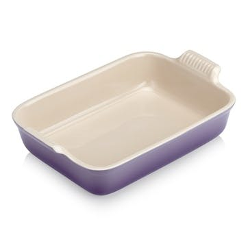 Stoneware Rectangular Dish - 32cm; Ultra Violet