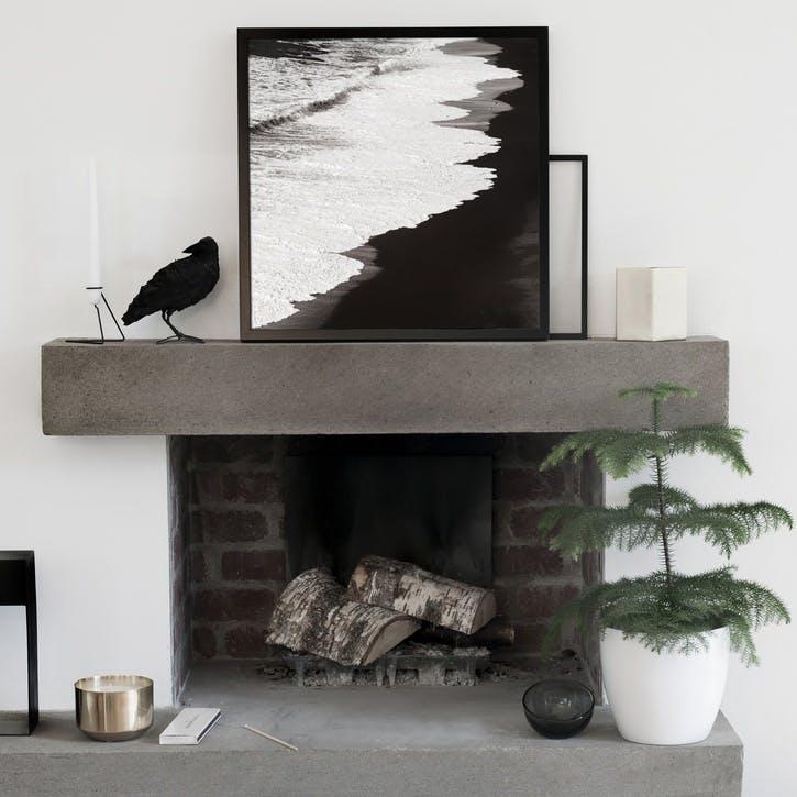 Black Beach Print - 30 x 30cm
