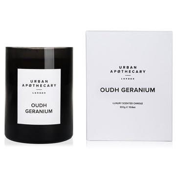 Oudh Geranium Luxury Candle, 300g