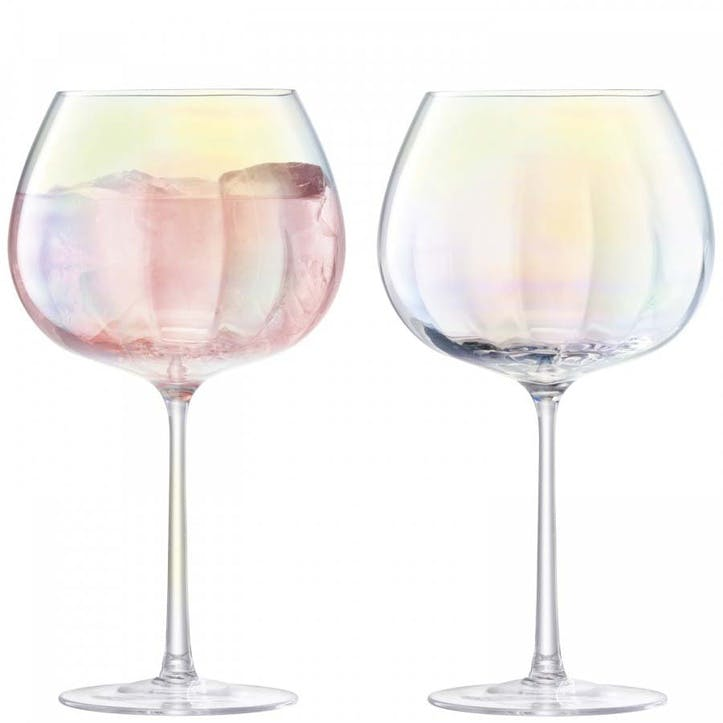 Pearl Balloon Goblet, Set of 2