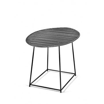 Metal, Oval Table, Black