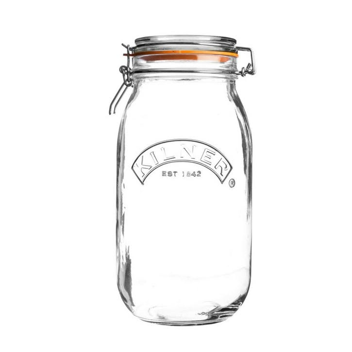Round Clip Top Jar, 2L