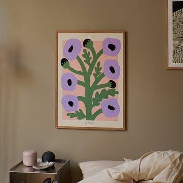 Purple Poppies, Madelen Mollard Art Print