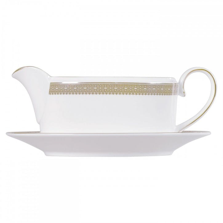 Lace Gold Sauce Boat